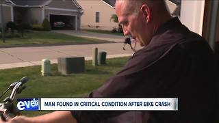 Akron bicyclist seriously injured in accident but victim's family doesn't know how crash happened - Video