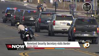 Heightened security measures outside border wall prototype site - Video