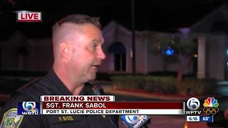 Port St. Lucie Police searching for suspect - Video