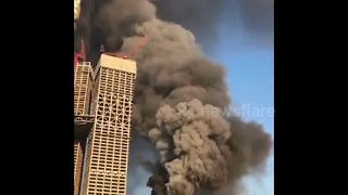 Huge fire breaks out at Asia's biggest shopping mall - Video