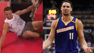 Steph Curry Makes Fun of Klay Thompson's Dunk Fail in China - Video
