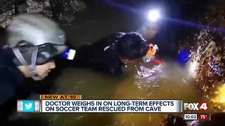Doctor weighs in on long-term effects on rescued soccer team
