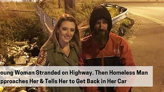 Homeless Man Spends Last $20 to Fill Gas Tank - Video