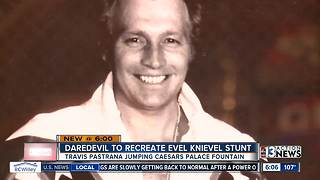 Evel Knievel's famous Casears Palace stunt to be recreated - Video
