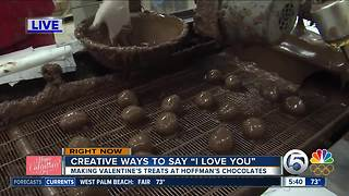 Hoffman's Chocolates churns out sweet treats for Valentine's Day - Video