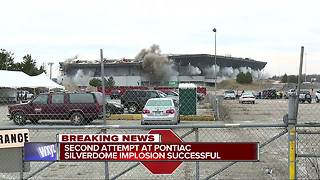 WATCH: Crews successfully implode the Pontiac Silverdome - Video