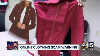 Online clothing scams to watch out - Video
