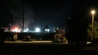 Employee Injured in Fire at Windsor Oil Site - Video