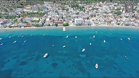 Drone footage magnificently captures picturesque town in Greece