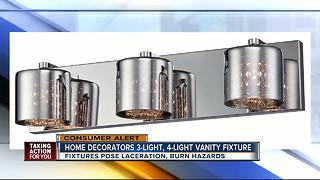 Home Depot light fixtures recalled for cut, burn hazards - Video