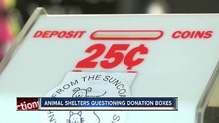 Animal shelter says donation money from candy boxes in Bay area businesses not coming to them - Video