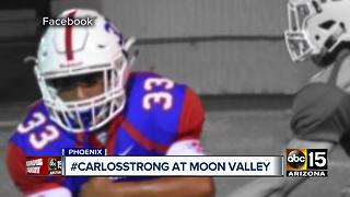#CarlosStrong: Friends, family mourn young football player