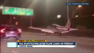 Small plane makes emergency landing on busy Southern California freeway - Video