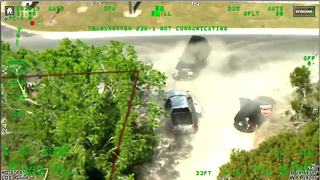 Video captures arrest of Florida man who crashed into 4 cruisers, led deputies on two-county pursuit - Video