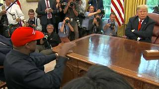 Kanye talks about Foxconn during his visit with President Trump