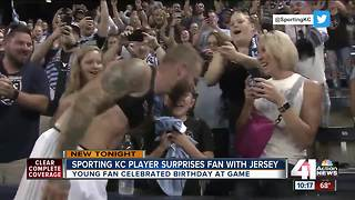 Sporting KC player gifts jersey to fan