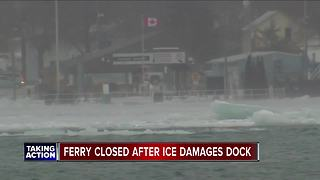 Bluewater Ferry closed after ice damages dock - Video