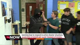 Police teaching metro Detroit students to fight active shooters in school - Video