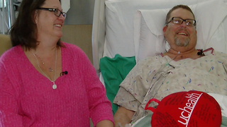 Father celebrates new heart on Valentine's Day - Video