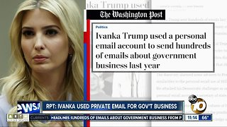 Ivanka Trump's email under fire