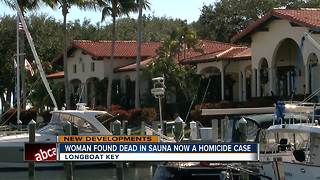 Homicide investigation launched after 54-year-old woman found dead in sauna - Video