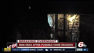 Man dead after possible home invasion on Indy's west side - Video