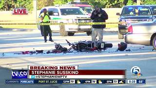 Motorcyclist killed in Greenacres crash - Video