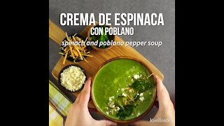 Spinach and Poblano Pepper Soup