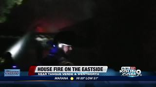 House burns in fire east of town - Video