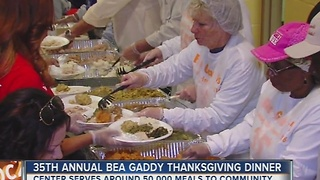 35th Annual Bea Gaddy Thanksgivingn Dinner - Video