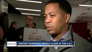 PolitiFact Wisconsin: Fastest shrinking middle class? - Video