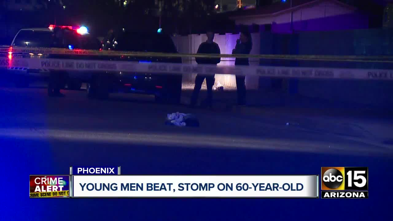 Young men beat, stomp on 60-year-old in Phoenix