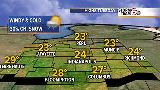 Snow showers & colder! - Video