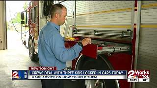 Tulsa Fire Department responds to calls of children locked in cars