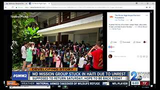 Return trip home from Haiti for local mission group delayed due to riots - Video