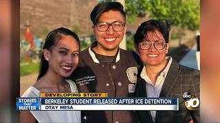 Berkeley student released after ICE detention - Video