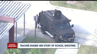 Teacher inside Florida school shooting shares her story, live
