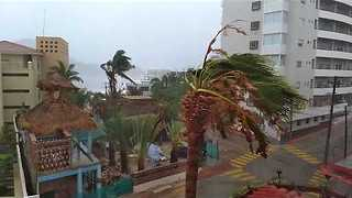 Tropical Storm Lidia Pounds Cabo San Lucas - Video