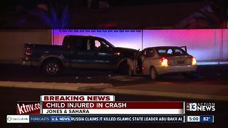 Child injured in crash near Jones & Sahara - Video