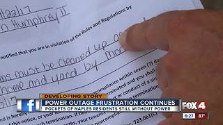 East Naples residents still deal with power outages - and lease termination notices