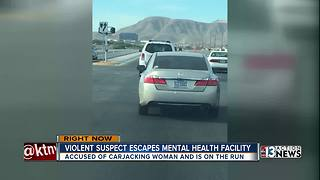 Violent suspect escapes mental health facility - Video