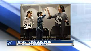 Spelling Bee Ends In Tie