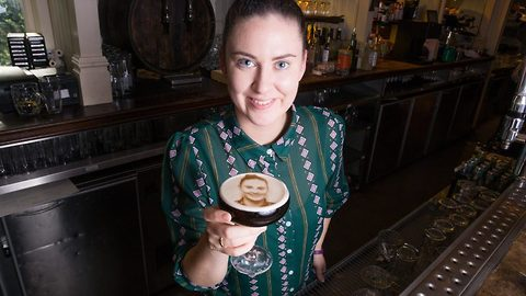 Espresso yourself! Incredible snaps show The Beatles, pets and selfies printed on espresso martini froth