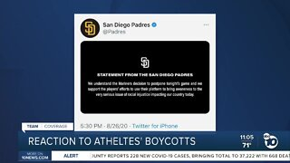 Reaction to athletes' boycotts