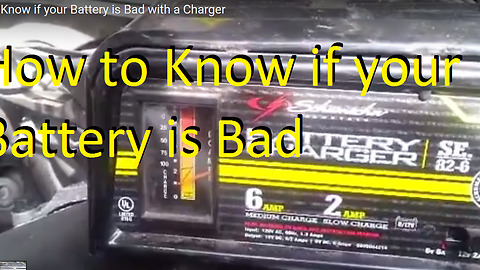 How to Know if your Battery is Bad with a Charger
