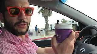 Canadian Man Baffled and Angered by Coffee Bean Cup - Video