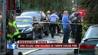 Fire kills one person in Tampa - Video