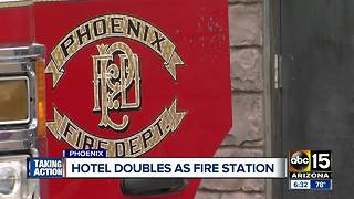Hotel doubles as fire station to decrease response times - Video