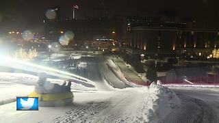 Tubing hill at Titletown District opens just in time for Christmas - Video