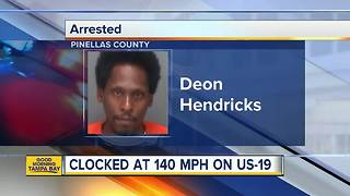 Florida man arrested for driving over 140 mph - Video